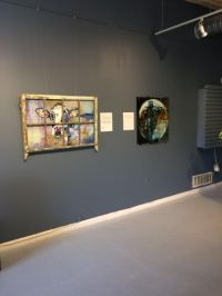 """Oh Very Young"" by Judy Mountjoy, mixed media on panel, 42x28"" (left)"