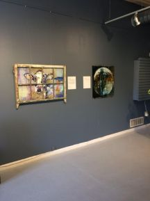 """""""Oh Very Young"""" by Judy Mountjoy, mixed media on panel, 42x28"""" (left)"""