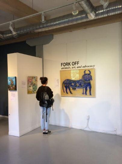 """Holy Cow"" by Mia Tremblay, 50x36"" acrylic on panel, $2,108"