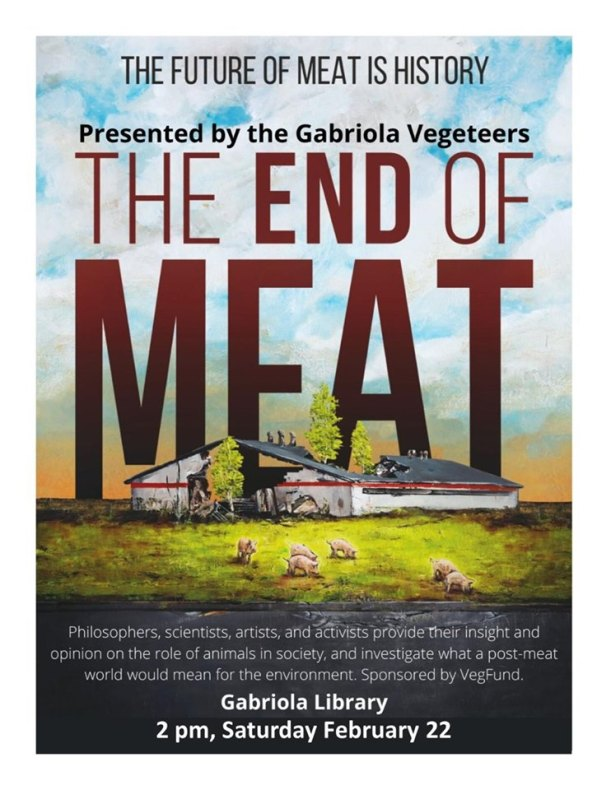 End of Meat Gabriola Vegeteers